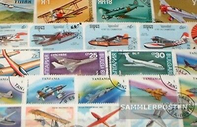 Thematics 50 different Aircraft stamps