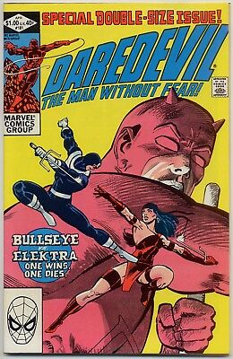 Daredevil 181 VF/NM 9.0 Death of Elektra! Punisher cameo out of costume, 52 pgs