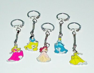 Gift Bagged Disney Princess Enamel Pendant Keyring/key Chain Handbag/purse Charm