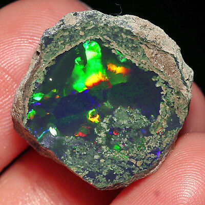 27.95CT 100% Natural New Found Africa Black Opal Facet Rough Specimen YHP76