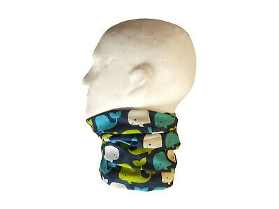 Neck/Face Warmer Tube Bandana Microfibre Whales