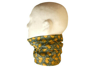 Neck/Face Warmer Tube Bandana Microfibre Polartec Stars Yellow
