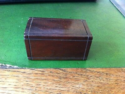 NICE SMALL DECORATIVE ANTIQUE WOODEN BOX 3 by 1.75 inches