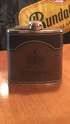 Bundaberg Rum Stainless Steel 6 oz Hip Flask