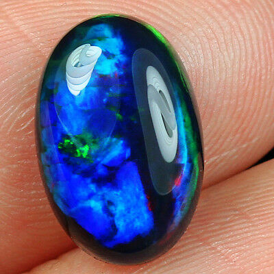 2.3CT Natural Ethiopian Black Opal Cab Play Of Color SHP6461