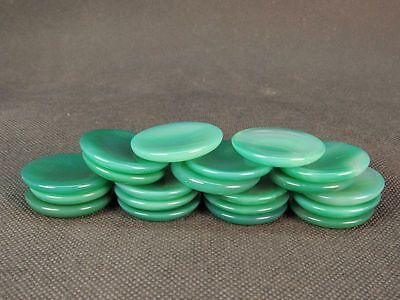 Chinese Five Green Agate Snuff Bottle Dishes