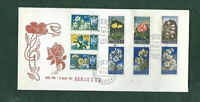 San Marino 1957 and 1967 Flowers stamps on cover not FDC