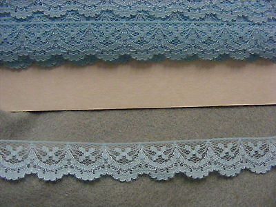 Flat Lace Blue/Aqua - 20 metres (W12) 1 Break