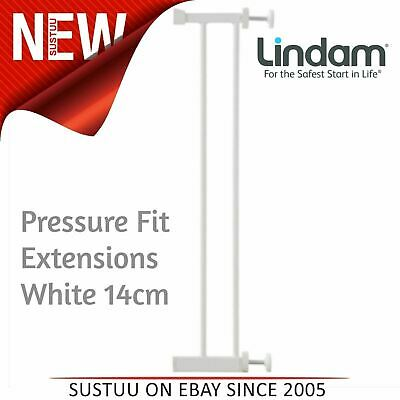 Lindam Pressure Fit Extensions│Toddler Kid's Safety Gate's Accessory│White│14cm│