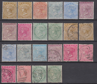 Bermuda 1883/1904 Collection Mint Mounted & Used Cat £315
