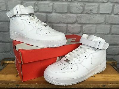 Nike Boot Force 1 Mens Basketball 82 Leather Uk White Eu Trainers Air 9 44 Mid W2eYDH9EI