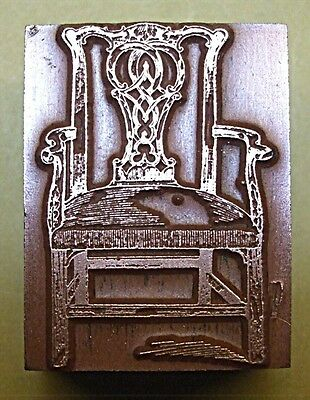 """""""chippendale Chair"""" Printing Block."""