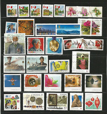 Canada - Year 2010  - 33 stamps incl. six complete sets