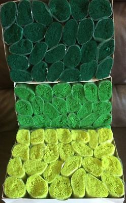 75 packs latch hook yarn, shades of green. Also suitable for Pom Pom Rug Making.
