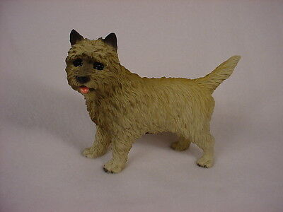 CAIRN TERRIER dog HAND PAINTED FIGURINE red puppy COLLECTIBLE Resin Statue NEW