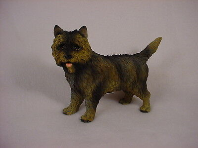 CAIRN TERRIER dog HAND PAINTED FIGURINE brindle puppy COLLECTIBLE Resin Statue