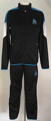 Olympic Marseille Black Tracksuit Official Merchandise Size Adults Large New