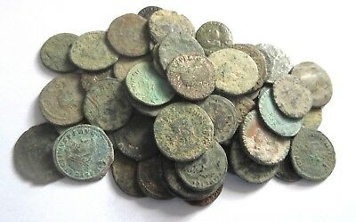 A lot of 50 ancient roman coins