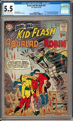 Brave and the Bold #54 CGC 5.5 (C-OW) Origin & 1st Appearance of the Teen Titans