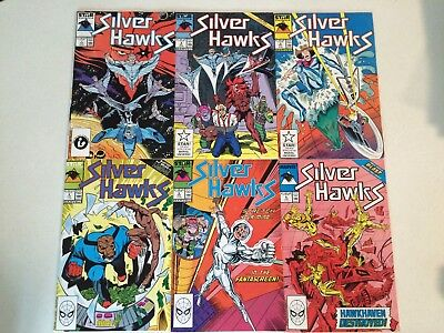 Silverhawks #1 2 3 4 5 6 comic books Star 1986