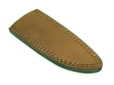 "Brown Leather Belt Pouch Sheath For Straight Fixed Knife Up To 9"" PA660609"