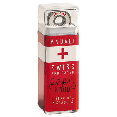 Andale Skateboard Bearings P Rod Rodriquez Swiss Bearing Set