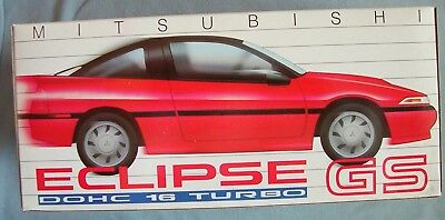 MITSUBISHI ECLIPSE GS Turbo dealer promo collectible red diecast car 1988 NEW
