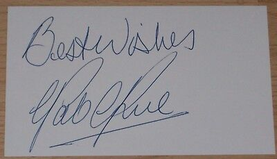 Pat Rice Arsenal  Personally Signed Autograph Index Card