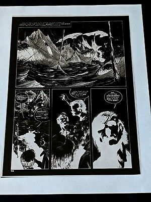BERNI WRIGHTSON Eerie #58 1974  THE PEPPER LAKE MONSTER Publishers Negative pg26