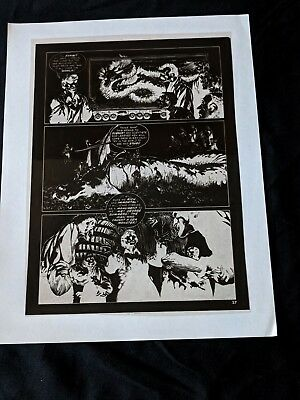 BERNI WRIGHTSON Eerie #58 1974  THE PEPPER LAKE MONSTER Publishers Negative pg27