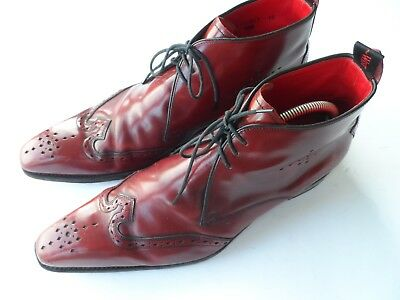 Jeffery West Men's 'mie' Oxblood Leather Brogue Boots Size 10 Uk/44 Us/11 Us