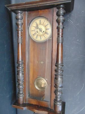 Large Vintage Granddaughter Wooden WALL CLOCK Pendulum Chimes With Key - S79