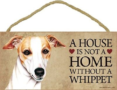WHIPPET A House Is Not A Home DOG wood SIGN wall hanging PLAQUE puppy USA MADE