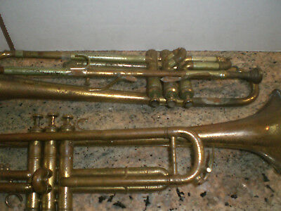 2 Vintage Trumpet French Besson Fabrication Perfectionee Meha Rapuano Antique