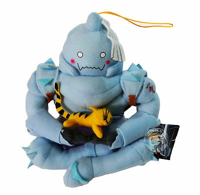 Fullmetal Alchemist Al Elric Sitting Holding Kitty Plush Toy Tag Licensed Legit