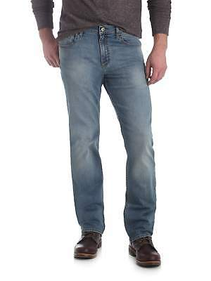 Wrangler NEW Blue Shade Flex Mens Slim Straight Leg Denim Jeans