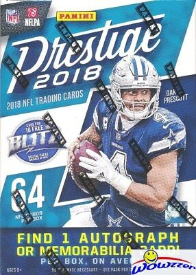 2018 Panini Prestige Football EXCLUSIVE Factory Sealed Blaster Box-AUTOGRAPH/MEM