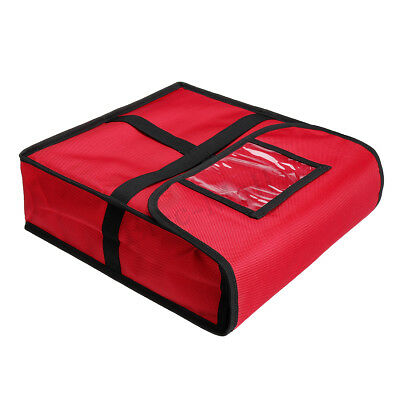 """Pizza Delivery Bag Thermal Insulated Pizza Food Boxes Storage 13""""x 13""""x 4"""""""