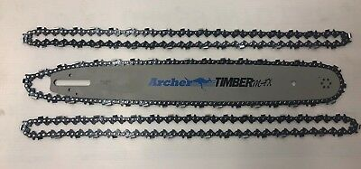 """20"""" Bar 3 X CHAINS Combo Sprocket Nose Stihl Chainsaw 3/8 063 72DL SEMI CHISEL"""