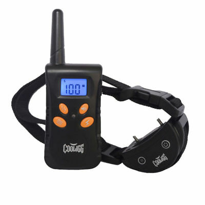 Remote Dog Training Collar Rechargeable Electric LCD 100LV Shock Waterproof
