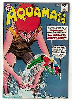 DC Comics AQUAMAN Vol 1 No 10  SILVER AGE justice league  FN+ 6.5