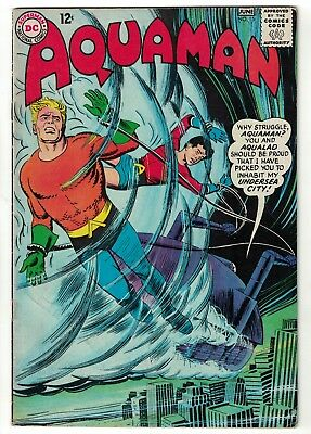 DC Comics AQUAMAN Vol 1 No 15  SILVER AGE justice league 5.5 FN- 1964