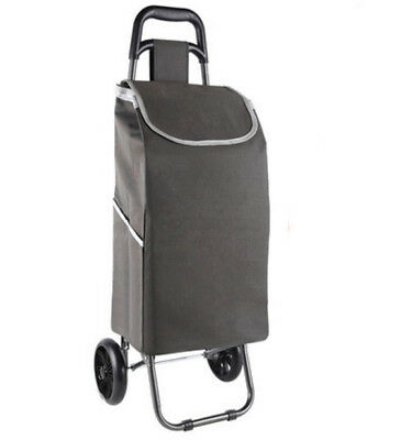 A152 Rugged Aluminium Luggage Trolley Hand Truck Folding Foldable Shopping Cart