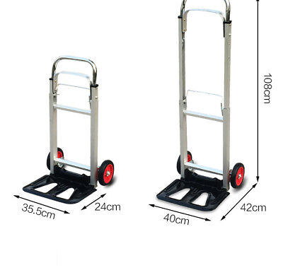 A24 Rugged Aluminium Luggage Trolley Hand Truck Folding Foldable Shopping Cart