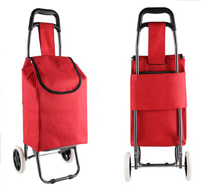 A148 Rugged Aluminium Luggage Trolley Hand Truck Folding Foldable Shopping Cart