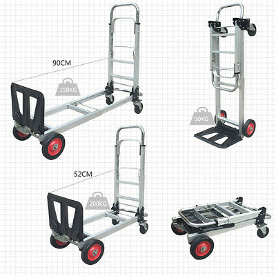 A23 Rugged Aluminium Luggage Trolley Hand Truck Folding Foldable Shopping Cart