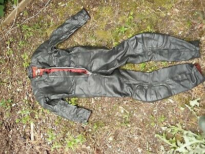 "Motorcycle leathers 1 piece HIGHWAYMAN size 40"" chest 36"" waist RARE nice"