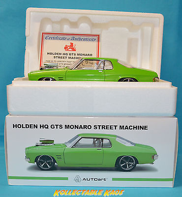 "Biante 1:18 Holden HQ Monaro Street Machine - ""Venom"" Noxious Green"