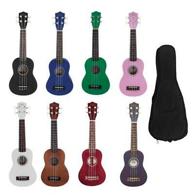 "Glarry 21"" Economic Soprano Ukulele Practice Hawaiian Uke Children Gift w/ Bag"