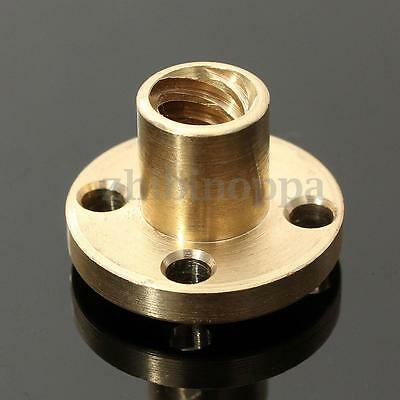 2pcs 2mm pitch 12mm Lead ∅22mm Brass Flange Nut //∅8mm 6-Start Screw CNC 3D axis